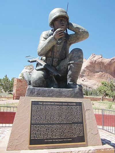 The Navajo Code Talker memorial in Window Rock, Arizona on the Navajo Nation. Katherine Locke/NHO