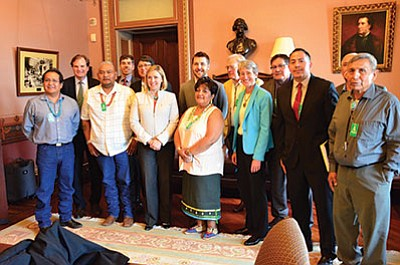 Navajo Nation Council members and the Bears Ears Inter-Tribal Coalition traveled to Washington D.C. to petition the Obama administration to designate the Bears Ears area as a national monument.  Submitted photo