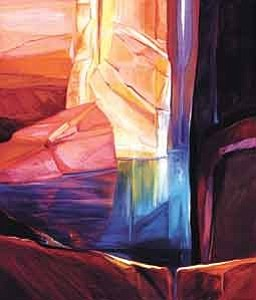 "Photo courtesy of Museum of Northern Arizona  ""Canyon Sanctuary,"" from artist Joella Jean MahoneyÕs Inner Canyon Series (60Ó x 48Ó oil on canvas, 1983) is one of the pieces featured in her one-woman show that opens Sept. 17 at the Museum of Northern Arizona in Flagstaff."