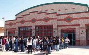 By Byron Poocha/TC District Media Served up in a beautiful new 17,000 square-foot stone building, students at the TC DistrictÕs Tuba City Junior High School can now get their two hot choices, daily free lunch and free breakfast at their own new $4.5 million dollar cafeteria. The TC Junior High School, with current enrollment at 328, provides fresh, hot nutritious meals to its students five days a week.