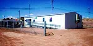 Photo by Phil R. Begay The new Navajo Treatment Center for Children & Families and the Family Violence Prevention & Services Act Program is located behind Tuba City Chapter House.