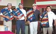 Photo courtesy NAU Institute for Native Americans Programs Winners from last yearÕs fund-raising golf tournament pose with prizes.