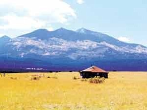 Photo by George Hardeen Navajos view the San Francisco Peaks as the residence of Holy People who have influenced, guided and supported them for centuries. The Navajo also view the misuse of the peaks as a gross sacrilege.