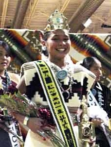 By Rosanda Suetopka Thayer/TC District Media Yvette Shorty, eighth grader from Tuba City Junior High School recently won the crown and title of TC Junior High Princess 2005-06. Shorty is the daughter of Laverna and Darryl Shorty, a native of Tuba City from the Tobacco Clan born for Tzil TaÕh Kiyaani Clan.