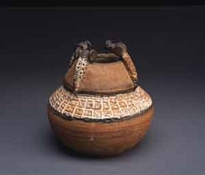 Photo courtesy of the Heard Museum Glazed clay jar by Otellie Loloma, Hopi