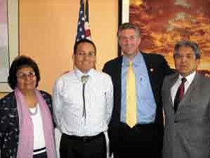 Courtesy photo Congressman Rick Renzi meets with Dine College officials in DC to push for higher funding levels for Indian education and Dine College.
