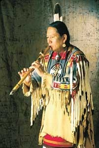 Native American flute player R. Carlos Nakai