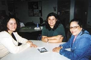 Photo by Helen Lau Running/Observer Hilda Ladner, left, Director of NAU's Multicultural Student Center, Lucy Estrella, Health Star Program peer adviser and Aliticia Tijerina, Health STAR Program coordinator, work to ensure a smooth transition for minority students entering health career programs at NAU.