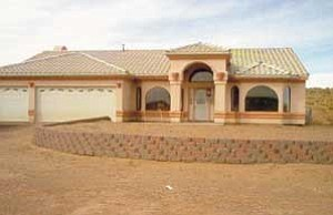 Photo by Dale Gleave Navajo Partnership for Housing provided the financing for this home, located on Navajo Nation trust land.