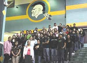Rosanda Suetopka Thayer/TC District Media In TC District, 125 high school students have successfully passed all three categories of AIMS state required tests. TCUSD administration and governing board held a dinner with student talent/entertainment in their honor at the Warrior Pavilion on April 25.