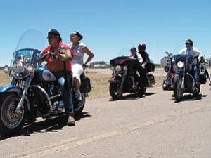 Photo by Karen Francis A dozen Navajo Nation honor riders surprised U.S. Army Sgt. Elizabeth Noble with an escort home to Steamboat from Klagetoh Chapter.