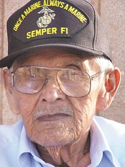 Photo by Paige Sandoval Code Talker Merrill SandovalÕs dream of a new home has been beset with one obstacle after another.