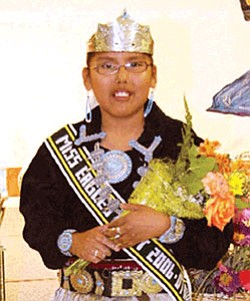 Tashina Bennett pauses after winning the title of 2006-2007 Miss Eagle's Nest. She will represent her school at local community events (Photo by Byron Poocha).