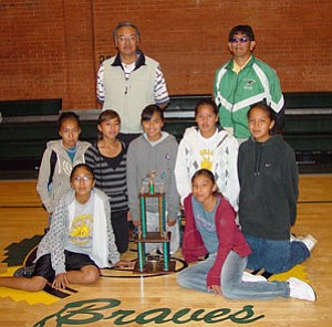 Tuba CIty Junior High Girls Cross-country team celebrates a season of success.