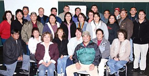 Tuba City Unified School District, Tuba City Hospital, and Tuba City-Moencopi community responders are now prepared  for any emergency following their National Incident Management training (Photo by Byron Poocha).