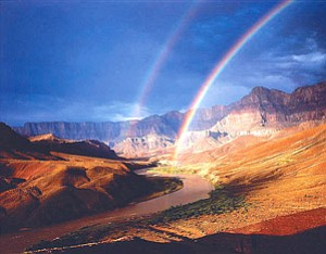 Colorado River and Rainbow from Hilltop Ruin by Tom Till (Photo courtesy of MNA).