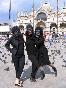 The Guerilla Girls at the Venice Biennale, 2005.