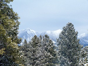 The sacred San Francisco Peaks. Observer file photo.