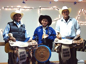 WJRA 2006 year-end award winners Chance Williams, Coby Nez and Kordale Secody (Courtesy photo).