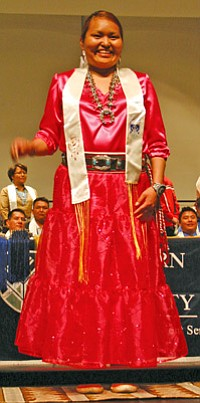 Ophelia Begay, Diné, received a bachelor's in psychology (Photo by Rebecca Schubert).