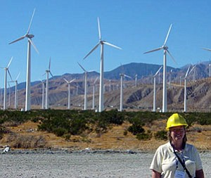 Susan Williams is part of an NAU team helping to get data about wind power into the hands of the public (Courtesy photo).