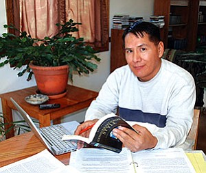 George Joe (Diné), publisher of REZ BIZ magazine (Courtesy photo).