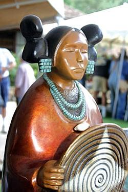 Bronze sculpture by Evelyn Fredericks, renowned Hopi sculptor (Photo courtesy of Sharlot Hall Museum).