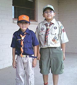 Scouts Naakaii Nalaheh Smith and Kinlichiinii Ashkii John (Photo by Beverly Smith).