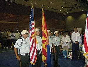 From left: Cadet Captain Raelyn Harvey, Cadet Private First Class Jalissa Albert, Cadet Captain Brianna Puhuyesva, and Cadet PFC Jennifer Naha (Courtesy photo).