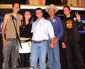 Howard Shanker (center), candidate for Arizona's Congressional District I, poses with members of the group Blackfire (Courtesy photo).