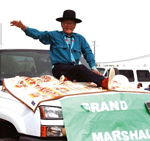 Norris Nez, grand marshal of the 2007 Tuba City High School homecoming parade (Photo by Byron Poocha/TCUSD).