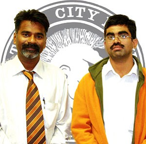 Praveen Dubey and Manoj Agarwal (Photo by Byron Poocha/TC District Media).