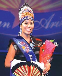 Evereta Lee Thinn (Diné), Miss Indian Arizona 2007-2008 (Photo by Michael Schaaf).