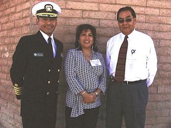 Captain Daryl Melvin (left), Andrea Secakuku and Bruce Talawyma helped facilitate the Health Care Summit (Courtesy photo).