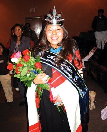 Marissa Navakuku, Hopi, from First Mesa was crowned Miss Indian NAU Nov. 29 (Photo by Gary Elthie/NHO).