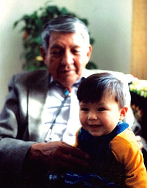 The late Marshall Tome with his grandson Nataani Tome (Courtesy photo).