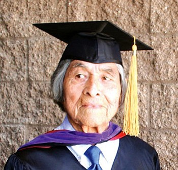 Emory Sekaquaptewa, esteemed University of Arizona (UA) anthropologist, Hopi educator, judge, artist and cultural treasure passed away Dec. 14. Among his most notable achievements is the compilation of a Hopi language dictionary (NHO file photo).