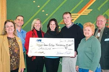 From left: Kathleen Corak, Paul Holbrook, CCC President Leah L. Bornstein, APS Community Development Manager Cindy May, CCC Foundation Vice President Kevin Stephens, Alice Baker and CCC Foundation Director Robert Erb (Courtesy photo).
