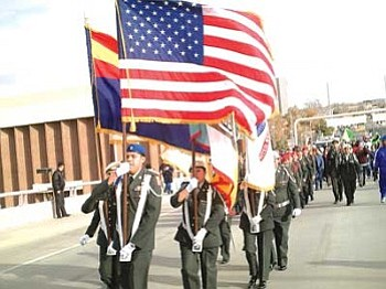 The Hopi JROTC cadets march in honor of Dr. Martin Luther King Jr. in Albuquerque, N.M. (Courtesy photo)