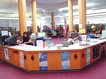 The Navajo Nation Library's information desk (Courtesy photo).