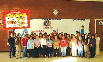 Tuba City Primary School teachers and staff.
