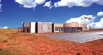 An artist's rendering of the new Dilkon District Court building. A traditional Navajo ground blessing ceremony was held for the new multi-purpose building that will house the Dilkon District Court on April 4 in Dilkon (Photo courtesy of Johnson Smitthipong & Rosamond Associates).