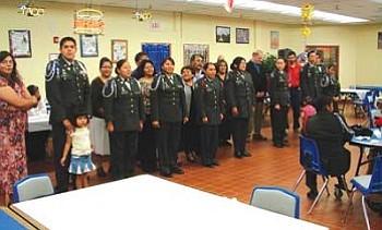 The Hopi High JROTC cadets pose for a photo.