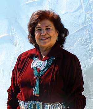 <i>Photo by Wells Mahkee Jr./NHO</i><br>Coconino County District 5 Supervisor, Louise Yellowman.