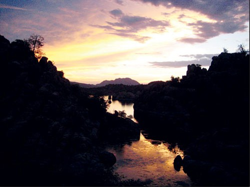 <i>Photo by Stan Bindell/NHO<br> A picturesque photo of Peavine Cove, perhaps one of the best places to see a beautiful Arizona sunset.
