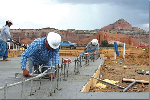 <i>Courtesy photo</i> Ben Benally (foreground) is one of many Navajos taking advantage of the new casino construction currently underway in Church Rock.