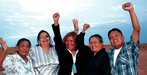 "<i>Courtesy photo</i><br> <b>""Need for Change"" candidates</b> - Pictured from left to right: Lela Zilth, Leota Begay, Priscilla Franklin, Ellen Branch and Calvin Johnson."