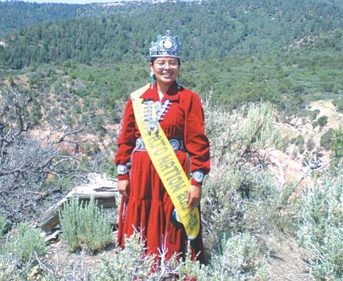 <i>Courtesy photo</i><br> Miss Navajo Nation 2007-2008 Jonathea D. Tso, from Cove, Ariz.