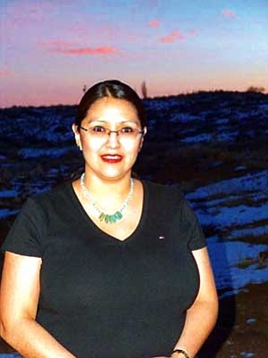 <i>Photo by Stacy Talahytewa</i> <br> Laurel Sekakuku of Kykotsmovi is a former member of the Hopi Foundation's leadership program in 2006-2007. Sekakuku is now a Program Coordinator and Program Associate for the Foundation.