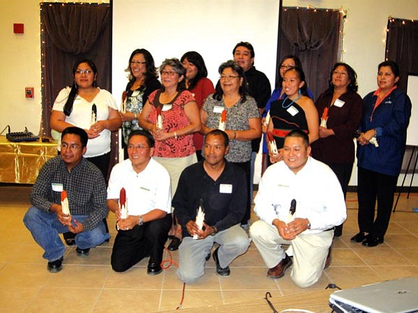 <i>Photo courtesy of the Hopi Foundation</i><br> The newest members of the Hopi Foundation's Leadership Program pose for a photo. The new inductees were honored during a dinner and induction ceremony held Sept. 15 in Kykotsmovi.